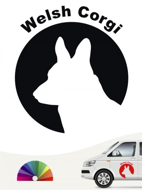 Welsh Corgi Hundeaufkleber von anfalas.de