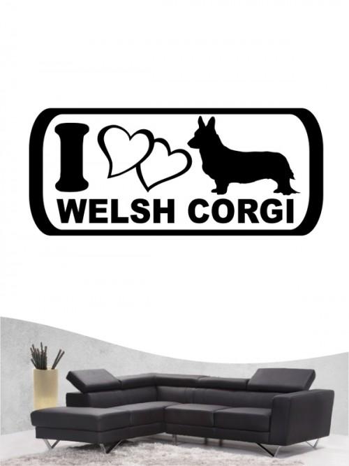 Welsh Corgi 6 - Wandtattoo