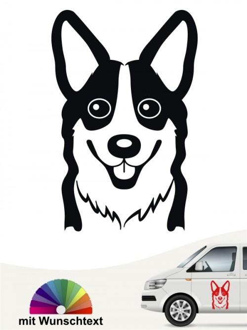 Welsh Corgi Hundeaufkleber mit Wunschtext anfalas.de