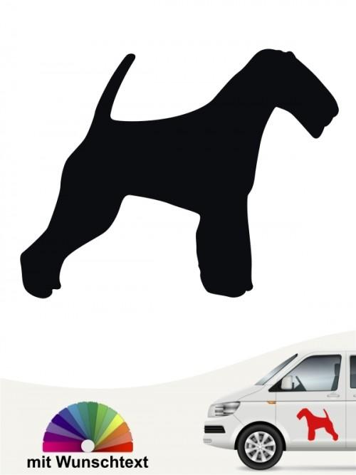Hundeaufkleber Welsh Terrier Silhouette mit Wunschtext anfalas.de