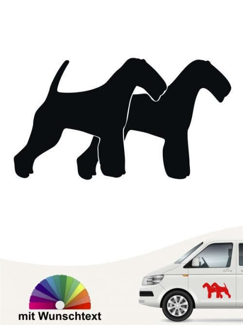 Welsh Terrier doppel Silhouette Sticker anfalas.de