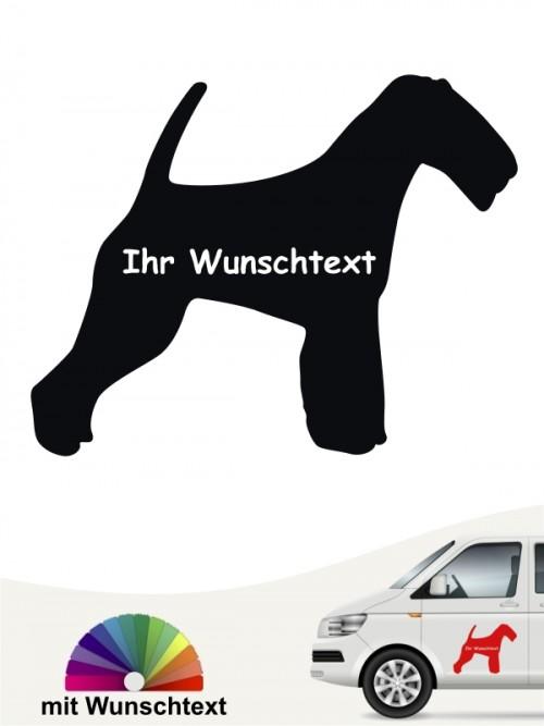 Welsh Terrier Silhouette mit Wunschtext anfalas.de