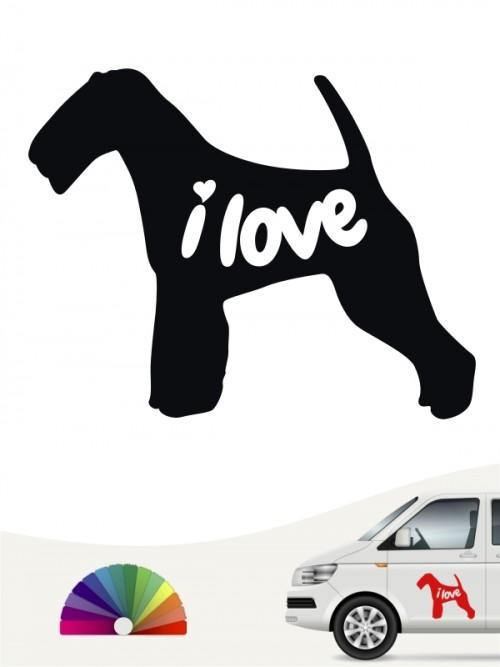 Welsh Terrier  i love Aufkleber von anfalas.de