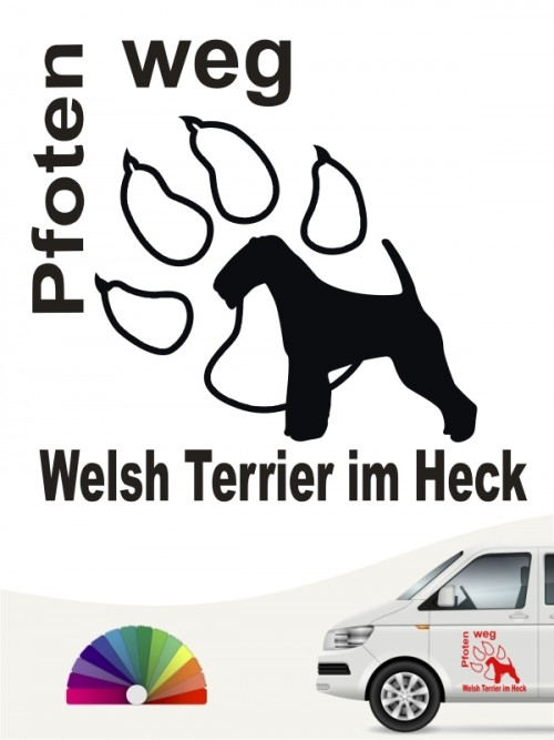 Welsh Terrier Pfoten weg Aufkleber anfalas.de
