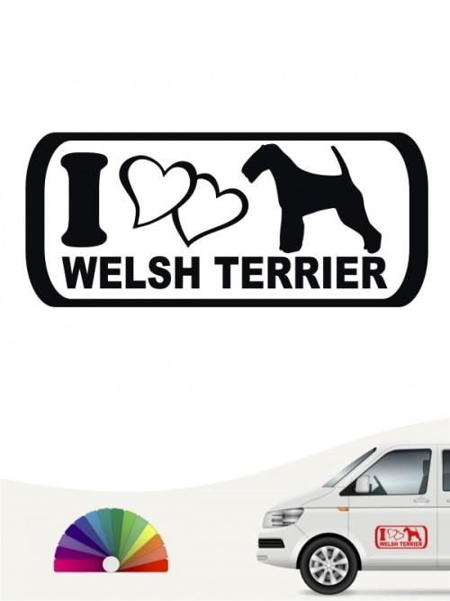 I Love Welsh Terrier Hundeaufkleber anfalas.de