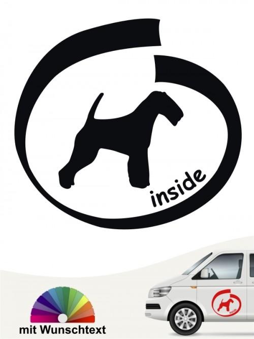 Inside Aufkleber Welsh Terrier mit Wunschtext anfalas.de