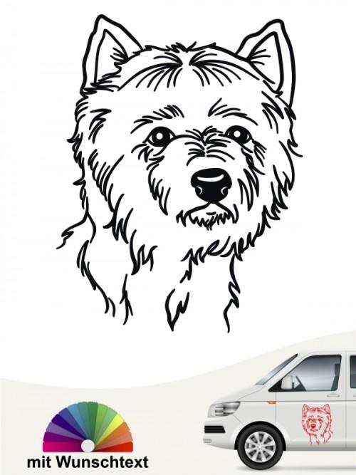 West Highland Terrier Kopf mit Wunschtext anfalas.de