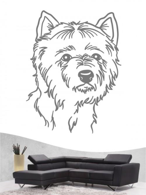 West Highland Terrier 11 - Wandtattoo