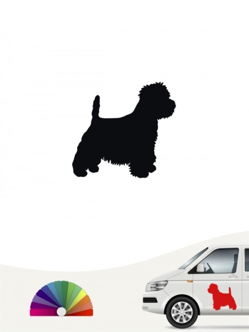 Hunde-Autoaufkleber West Highland Terrier 1 Mini von Anfalas.de