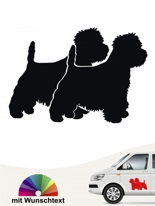 West Highland Terrier Sticker doppel Silhouette anfalas.de