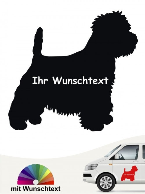 West Highland Terrier Silhouette mit Wunschname anfalas.de