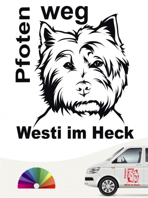 Pfoten weg Hundeaufkleber West Highland Terrier anfalas.de