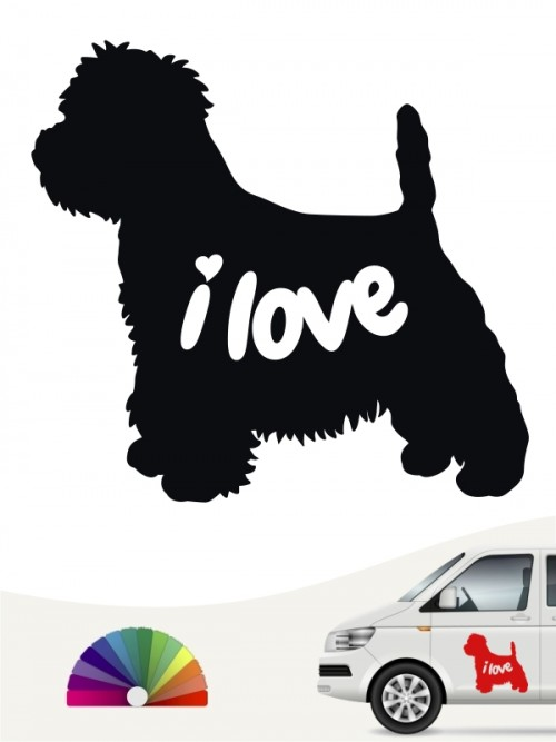 West Highland Terrier i love Aufkleber von anfalas.de