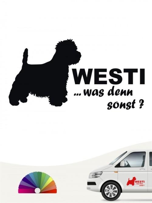 Autoaufkleber Westi was denn sonst anfalas.de