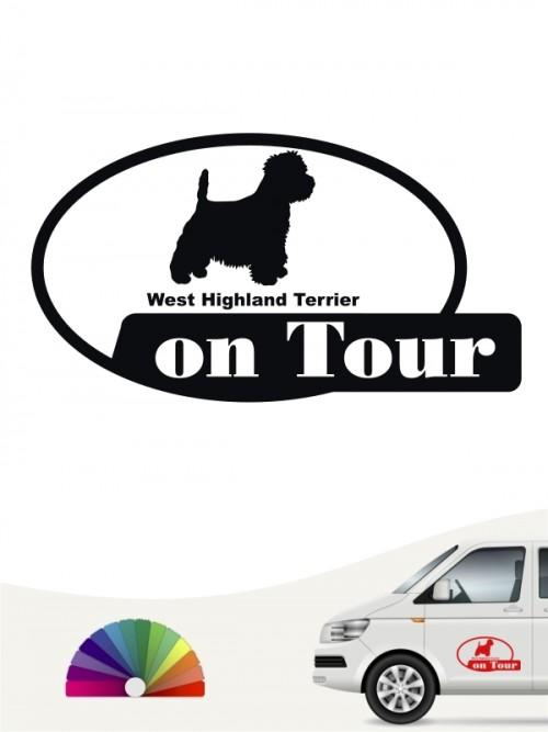 West Highland Terrier on Tour Aufkleber anfalas.de