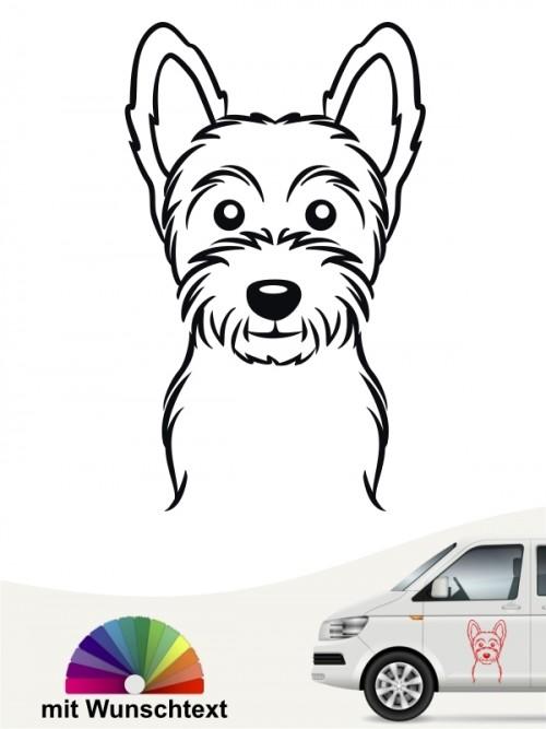 West Highland Terrier Autoaufkleber mit Wunschtext anfalas.de