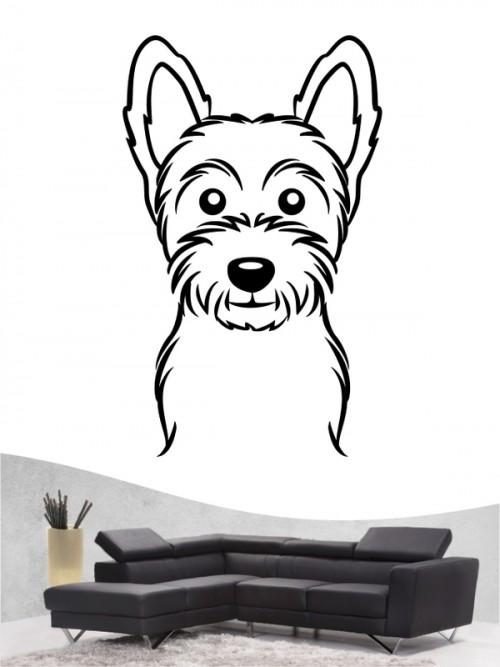 West Highland Terrier Comic - Wandtattoo