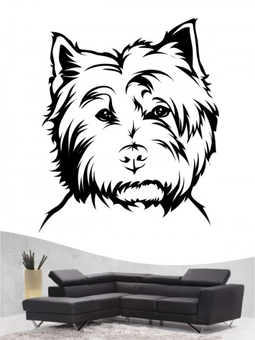 West Highland Terrier - Wandtattoo