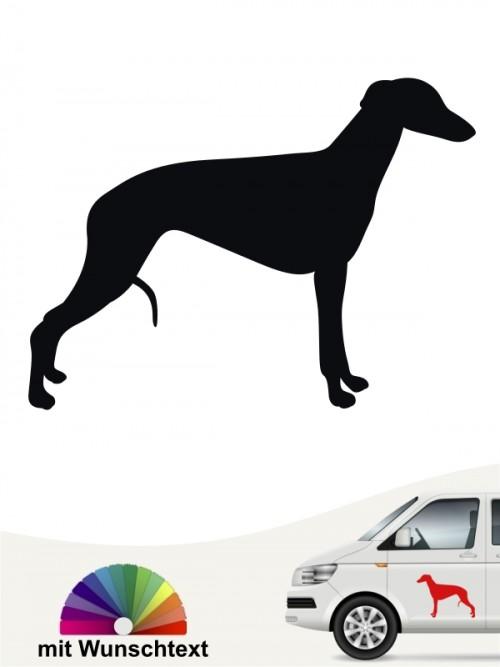 Whippet Hundeaufkleber mit Wunschtext anfalas.de