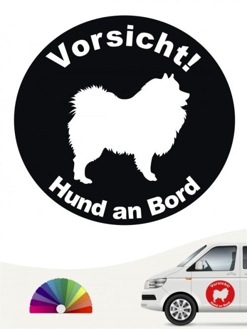 Wolfsspitz / Keeshond Aufkleber von anfalas.de