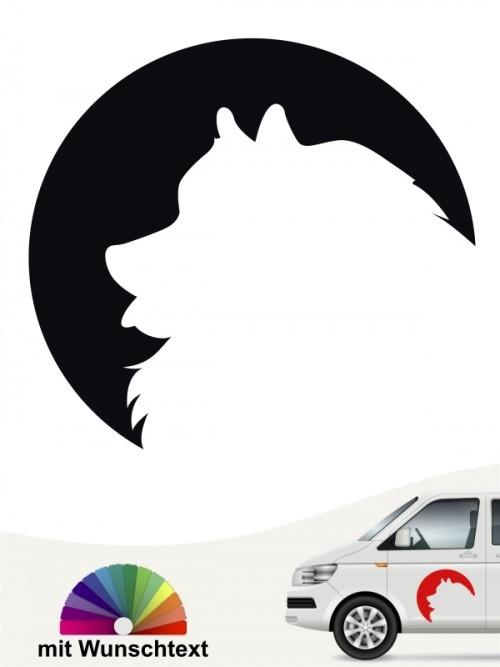 Wolfsspitz / Keeshond Hundeaufkleber von anfalas.de