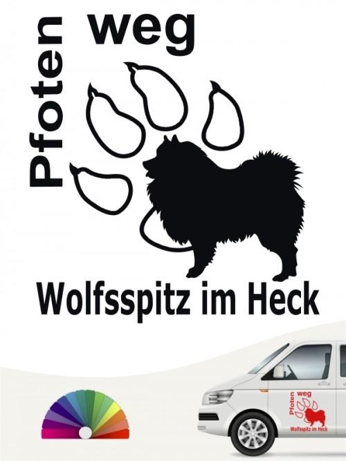 Pfoten weg Aufkleber Wolfsspitz / Keeshond anfalas.de