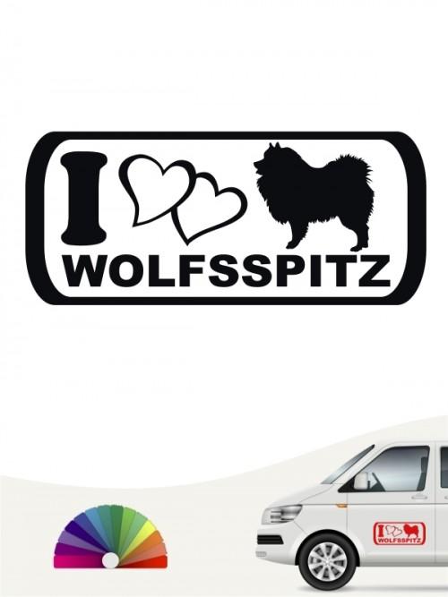 I Love Wolfsspitz Heckscheibenaufkleber anfalas.de