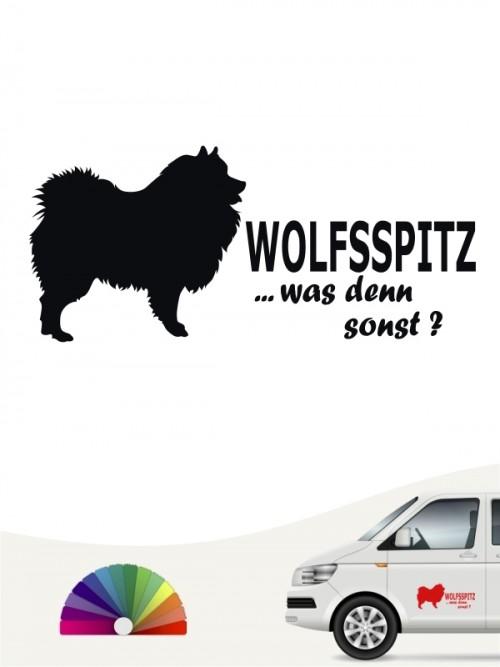Wolfsspitz was denn sonst Autosticker anfalas.de
