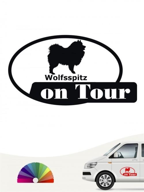 Wolfsspitz on Tour Hundeaufkleber anfalas.de