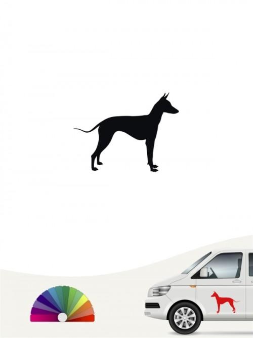 Xoloitzcuintle Autoaufkleber Silhouettte anfalas.de