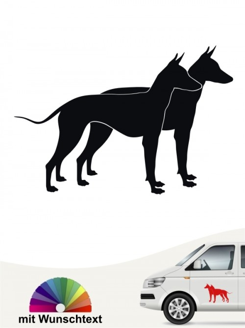 Xoloitzcuintle doppel Silhouette Autosticker anfalas.de