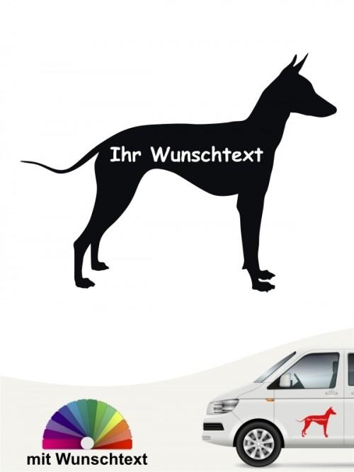 Xoloitzcuintle  Silhouette Autosticker anfalas.de