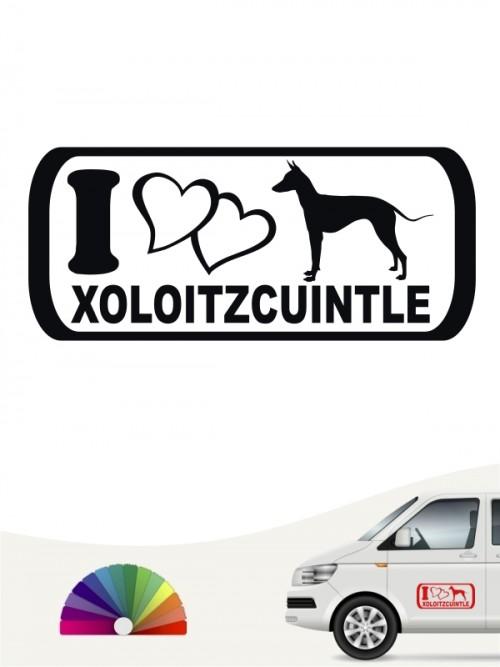 Xoloitzcuintle Autoaufkleber I love anfalas.de