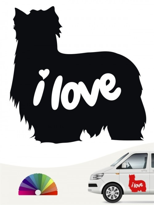 Yorkshire Terrier i love Aufkleber von anfalas.de