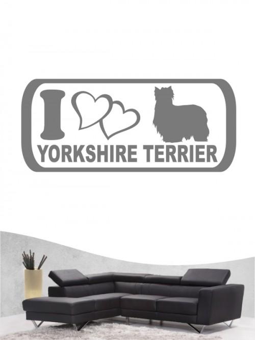 Yorkshire Terrier 6 - Wandtattoo