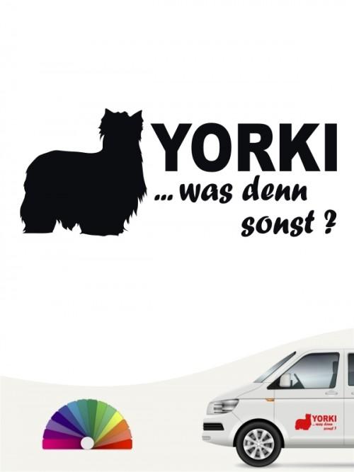 Yorkshire Terrier Autoaufkleber Yorki was denn sonst anfalas.de