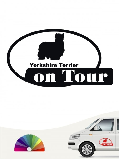 Yorkshire Terrier on Tour Autoaufkleber anfalas.de