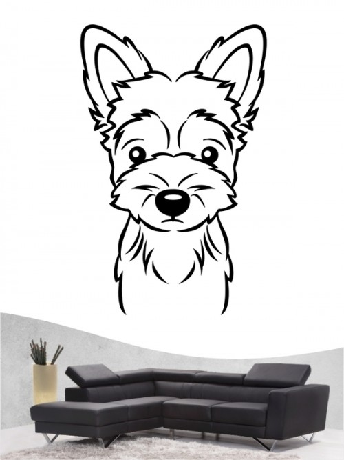Yorkshire Terrier Comic 1 - Wandtattoo