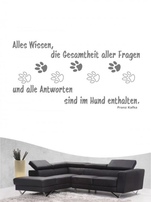 Hunde-Zitat 11 Wandtattoo von Anfalas.de