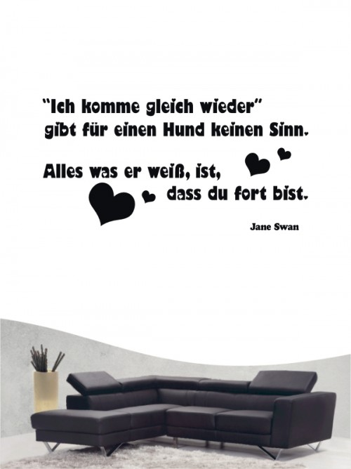 Hunde-Zitat 12 Wandtattoo von Anfalas.de