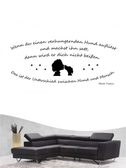 Hunde-Zitat 15 Wandtattoo von Anfalas.de