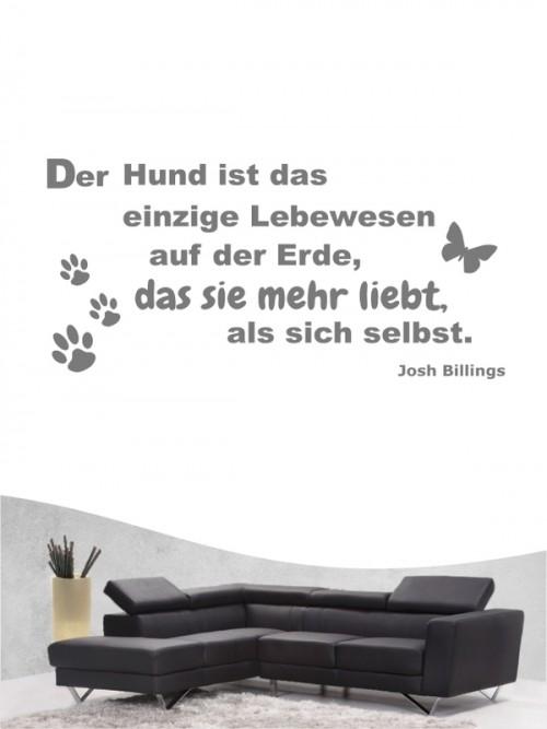 Hunde-Zitat 2 Wandtattoo von Anfalas.de