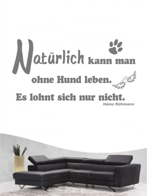 Hunde-Zitat 4 Wandtattoo von Anfalas.de