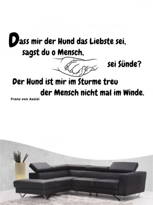 Hunde-Zitat 5 Wandtattoo von Anfalas.de
