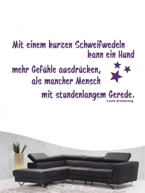 Hunde-Zitat 6 Wandtattoo von Anfalas.de