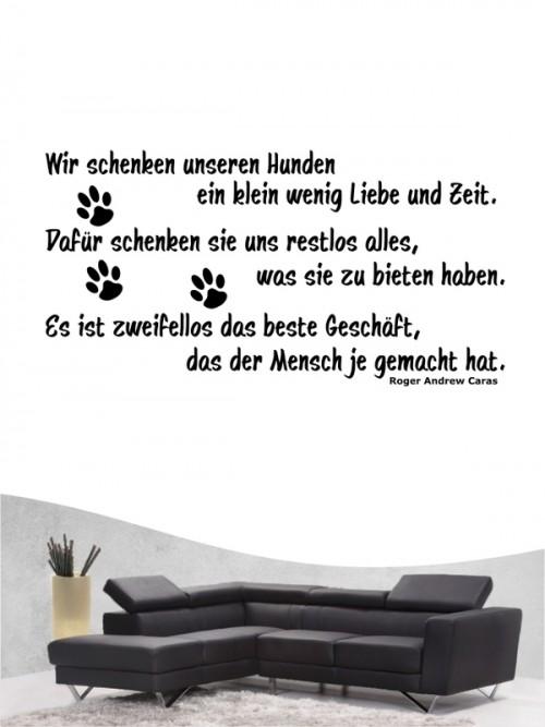 Hunde-Zitat 9 Wandtattoo von Anfalas.de