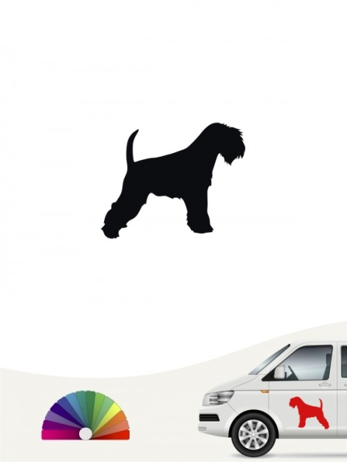 Hunde-Autoaufkleber Zwergschnauzer 1 Mini von Anfalas.de