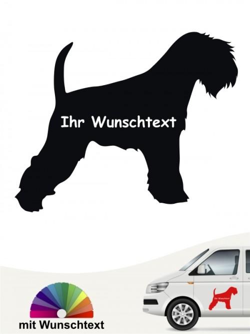 Zwergschnauzer Silhouette mit Wunschtext anfalas.de