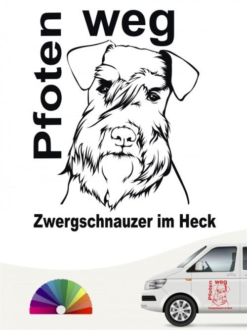 Zwergschnauzer Sticker Pfoten weg anfalas.de