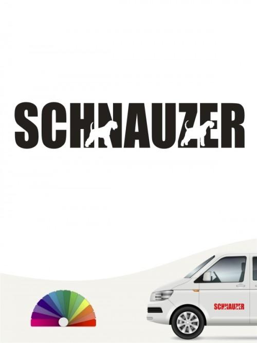 Zwergschnauzer Autoaufkleber von anfalas.de